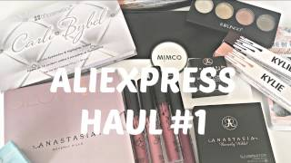 Aliexpress Haul #1 | KYLIE, MIMCO, CARLI BYBEL PALLETTE + MORE | CMhauls