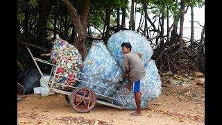 видео Простая сумка из пластиковых бутылок