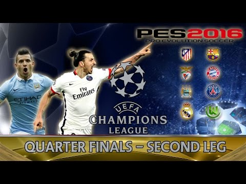 Man City vs PSG - PES 2016 Champions League: Quarter Finals Second Leg