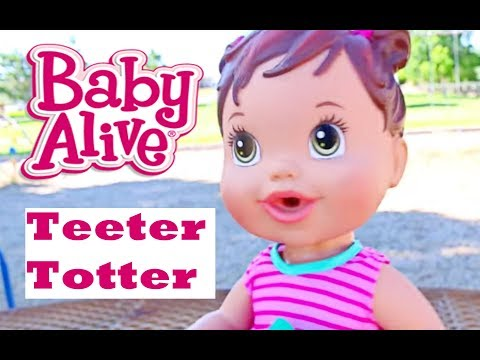 Baby Alive BABY ATTACK 2 Worlds Biggest CRAZY Baby at the Park with Baby Alive Boo Boo Doll