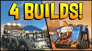 Crossout - FOUR BUILDS! Triple Cricket Launchers, Dual Reapers, a Spider & a Clown!
