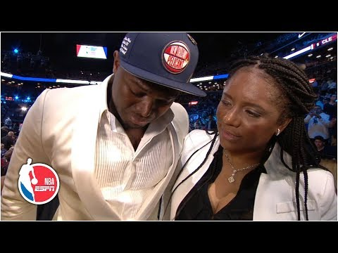 Zion Williamson gets emotional after New Orleans Pelicans select him No. 1 overall | 2019 NBA Draft