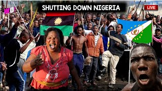 SHUT DOWN NIGERIA AGRY YORUBABIAFRA YOUTH BURT OUT TO END NIGERIA - DETROY ALL NIG FLAG OCT 1st
