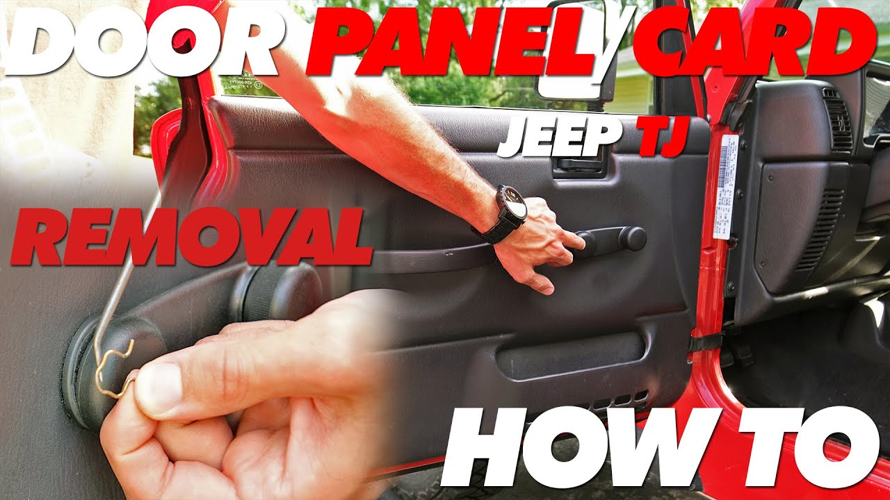 Jeep Tj Door Panel Card Removal Youtube