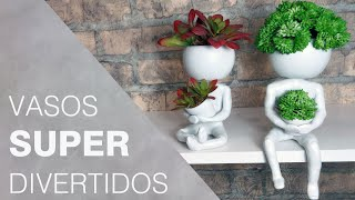 DIY - Vasos divertidos | Aprenda a modelar vasos com biscuit