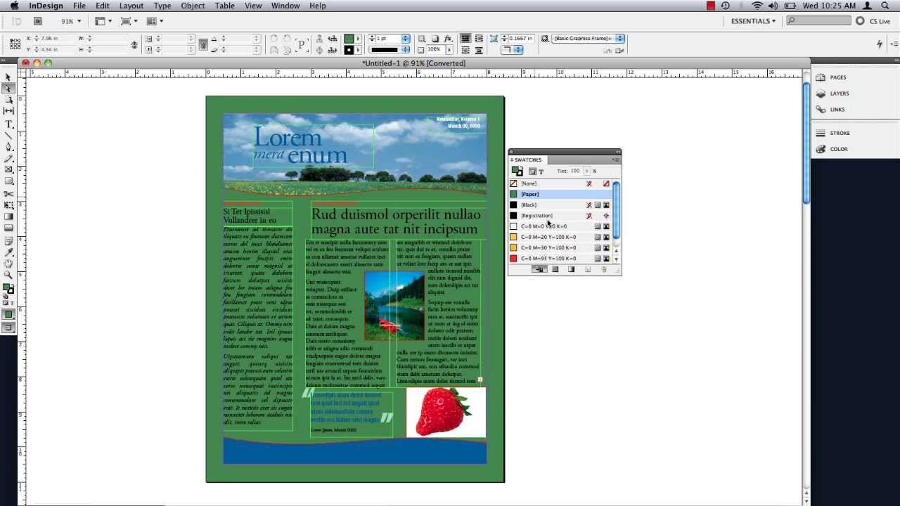 How to Change Background Color in inDesign