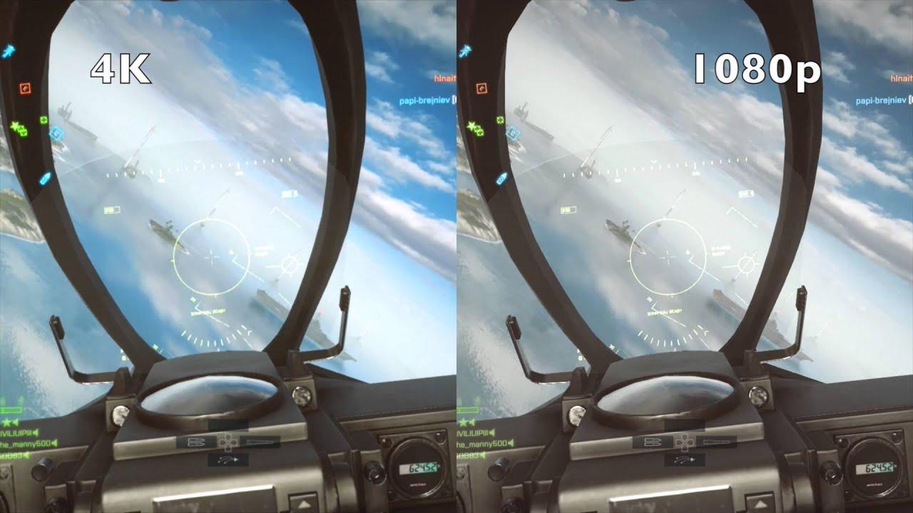 Battlefield 4: 4K vs 1080p (Color Saturation Test - Read Description) - YouTube