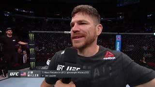 UFC Newark: Jim Miller Octagon Interview