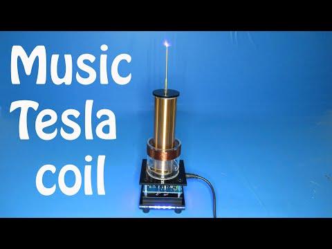 Music Tesla Coil Acrylic Base Shell Arc Plasma Loudspeaker