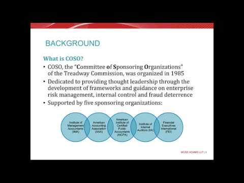 Public or Private, Think COSO 2013 for Internal Controls