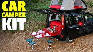 Car Camper kit | Convert Your Car Into a Camper