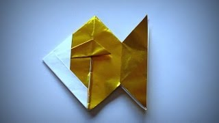 Origami - How To Make A Golden Fish