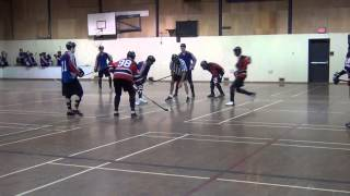 Brenden Ham vs. Dylan Churchwell (Hilarious!) - Ball Hockey Videos Ball Hockey Skills Hockey Goals