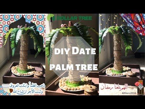 DIY DATE PALM TREE/ RAMADAN DECORATION صنع يدوي نخلة التمر لزينة رمضان