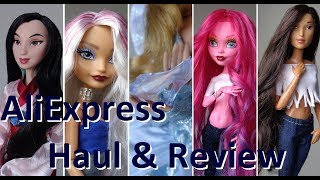 AliExpress Doll Haul & Review! Accessories, clothes, shoes & hair for Disney & Barbie dolls