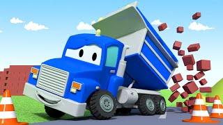El Camión Volquete - Carl el Super Camión en Auto City   Dibujos animados para niños