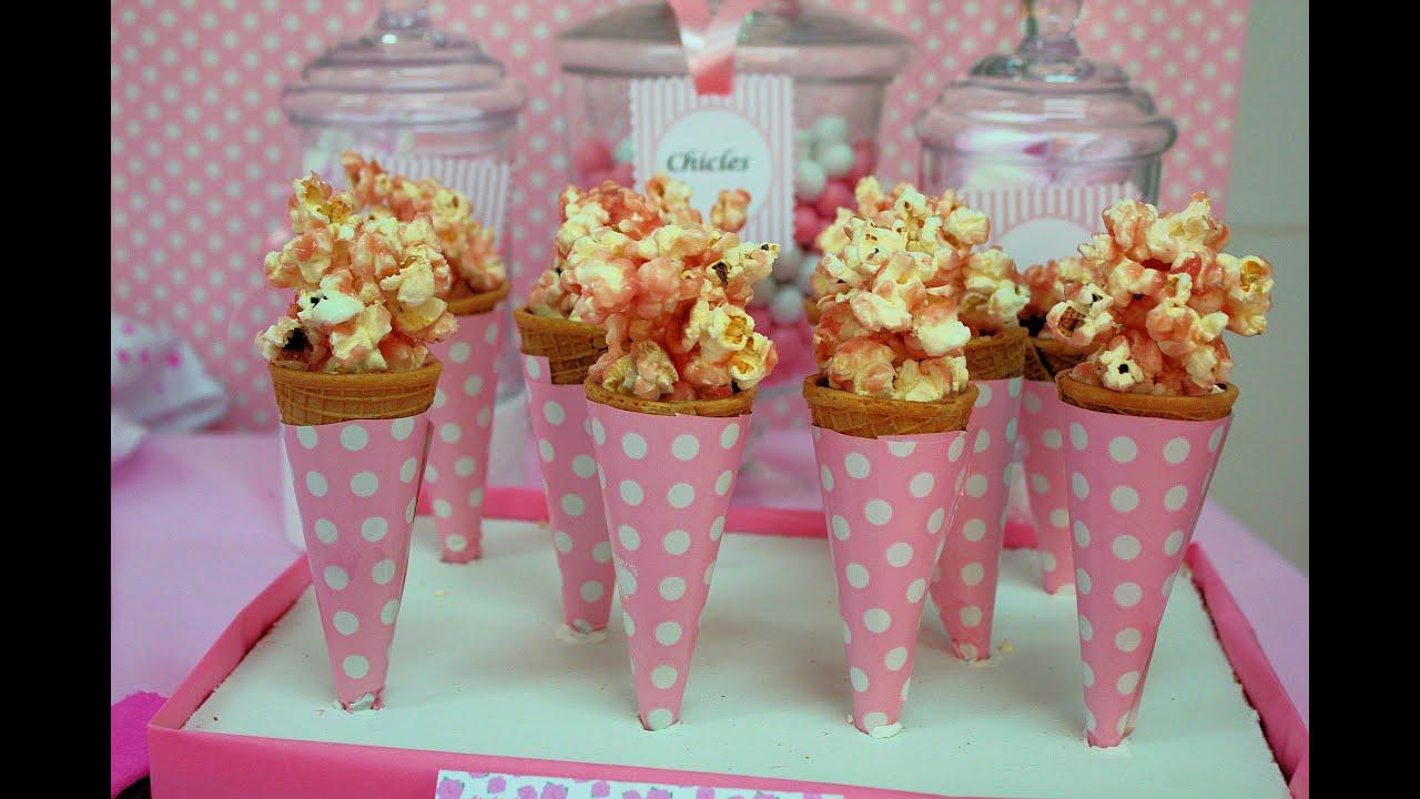 Palomitas con caramelo rosa cotufas con caramelo youtube - Como hacer palomitas de caramelo caseras ...