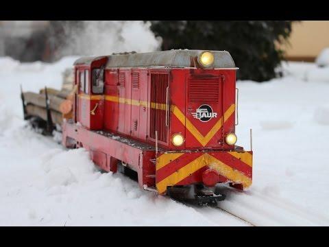 BIG RC TRAIN / Faur L45H als PKP Lxd2 / WINTER WOOD TRANSPORT