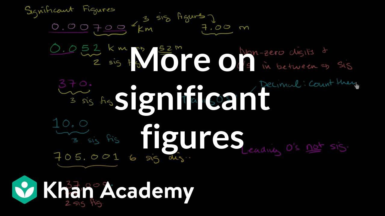 Significant figures rules (sig fig rules) (video) | Khan Academy