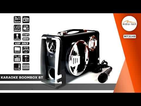Bluetooth Speaker | Media-tech - KARAOKE BOOMBOX BT MT3149 | EN