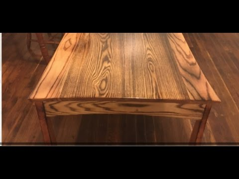 Handmade Burnt Wood Oak Coffee Table