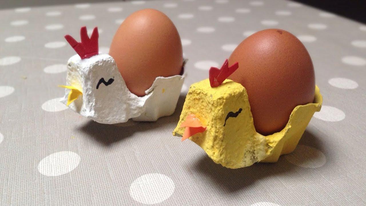 Come creare portauova a forma di pulcino gallina tutorial - Lavori da fare a casa ...