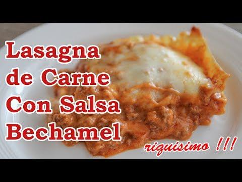 Lasagna de Carne con salsa Bechamel