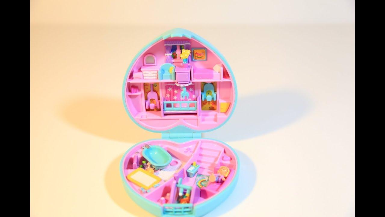 Polly Pocket Baby Time Fun Nursery Compact Mattel Toys