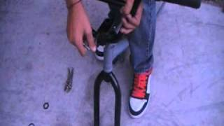 how to install forks stem and handle bars on a bmx bike