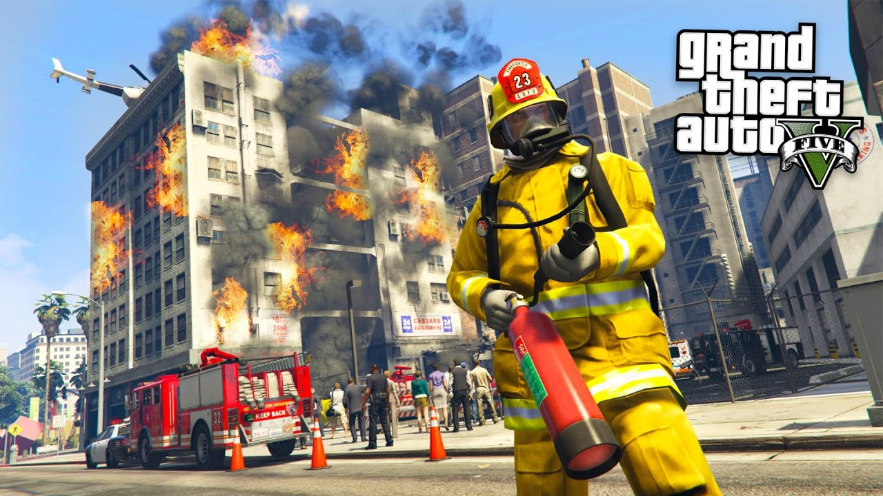 gta 5 mods play as a firefighter mod gta 5 firefighter mod