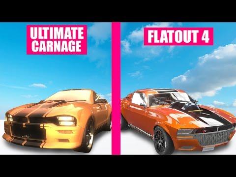 Flatout Ultimate Carnage vs Flatout 4 Graphics Evolution Comparison