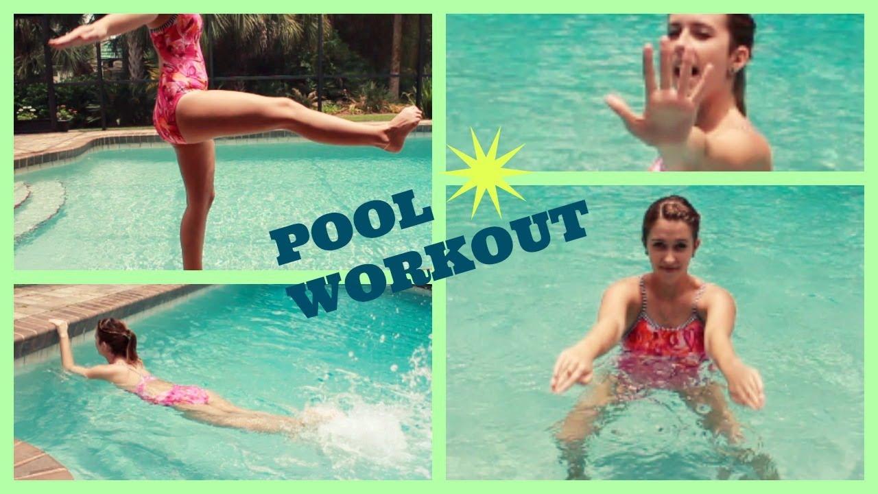 Summer Pool Exercises For Beginners Spreadinsunshine15 Youtube