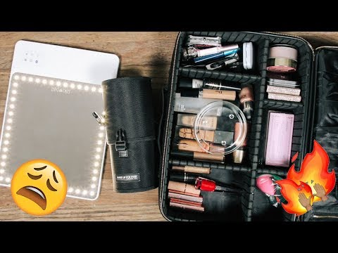 PACK WITH ME: MY TRAVEL MAKEUP | DESI PERKINS thumbnail