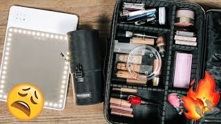 PACK WITH ME: MY TRAVEL MAKEUP | DESI PERKINS