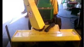John Deere 47 blower 240 degree chute rotation modification