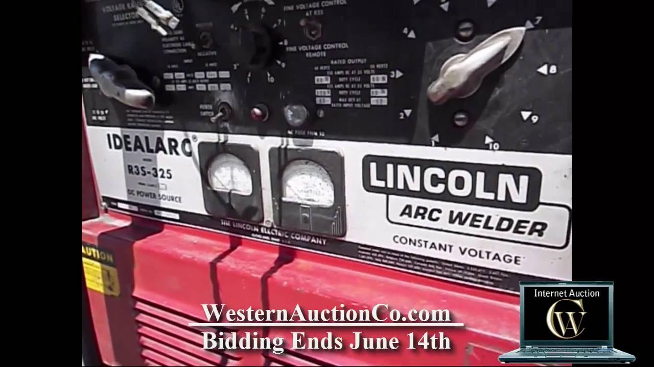 Lincoln Idealarc R3s 325 And Hobart 2000 Wire Feeder For Sale At 250 Wiring Diagram Auction