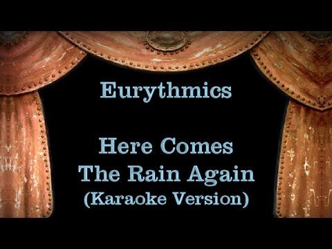 Eurythmics - Here Comes The Rain Again - Lyrics (Karaoke Version)