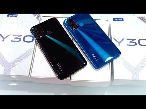 Vivo Y30 Unboxing , First look, specifications & Review !! Vivo Y30 Emerald Black vs Dazzle Blue