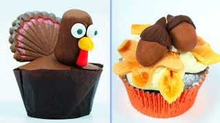 Cupcake Decorating Ideas | BEST DESSERTS for THANKSGIVING | Yummy Desserts Hooplakidz Recipes