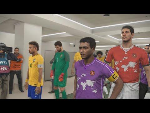PES 18 - Lendas do Mundo (World Classics) vs Brasil - Maracanã Stadium - MODO LENDA