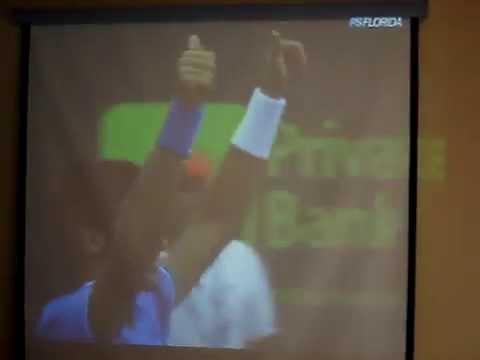 Federer/Djokovic Final Point Rally Sony Ericsson 2009