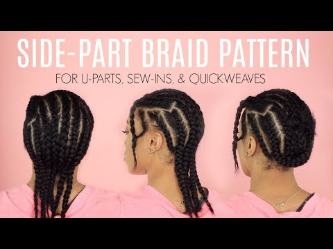 BRAID PATTERN FOR NATURAL WEAVESWIGS CROTCHET BRAIDS YouTube Interesting Braid Pattern For Sew In