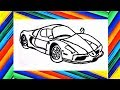 Cómo dibujar un carro: Ferrari - Dibuja y Colorea