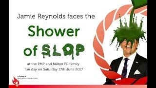 Jamie Reynolds gets gunged for charity