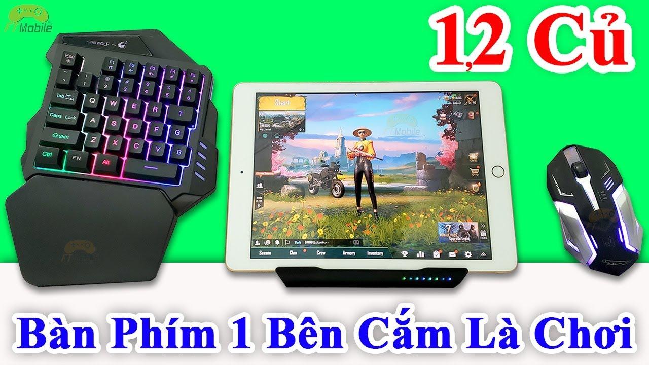 Bộ Phụ Kiện Chơi Game Mobile Chuột Bàn Phím 1 Bên Có Kê Tay Giá Rẻ 1200k Bắn PUBG Mobile Pro