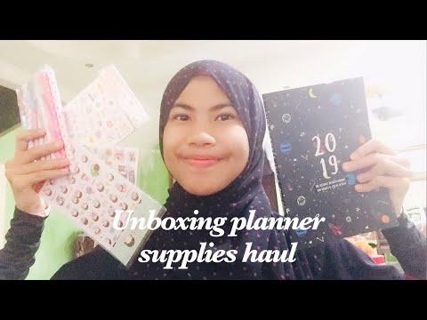 Unboxing planner supplies haul | shopee haul | MR diy haul