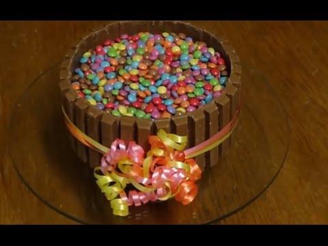 Sallys Schokotorte mit Smarties und Kitkat  YouTube