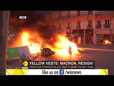 'Yellow vests' protesters clash with French police