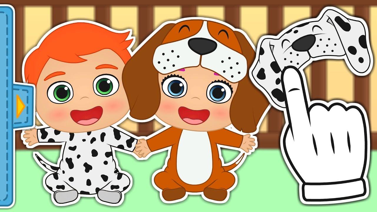 Bebés De Cachorros Disfraz De Alex Y Lily Como Cachorros De Perro Gameplay Y Juegos De Bebé Youtube