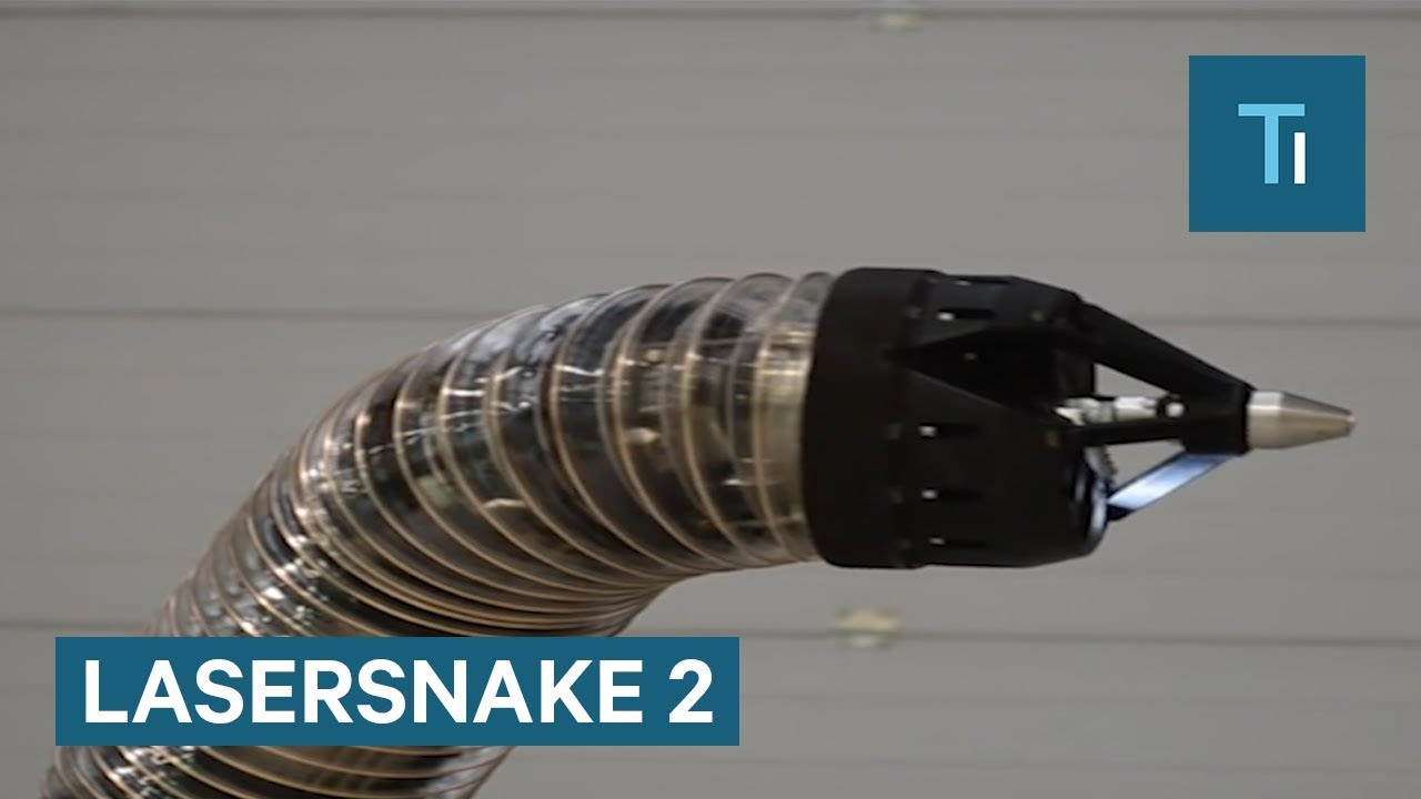 Snake-Like Robot Is Used To Dismantle Nuclear Facilities